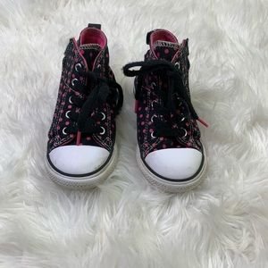 Converse All-Star Kids Polka Dot High Top Sneakers